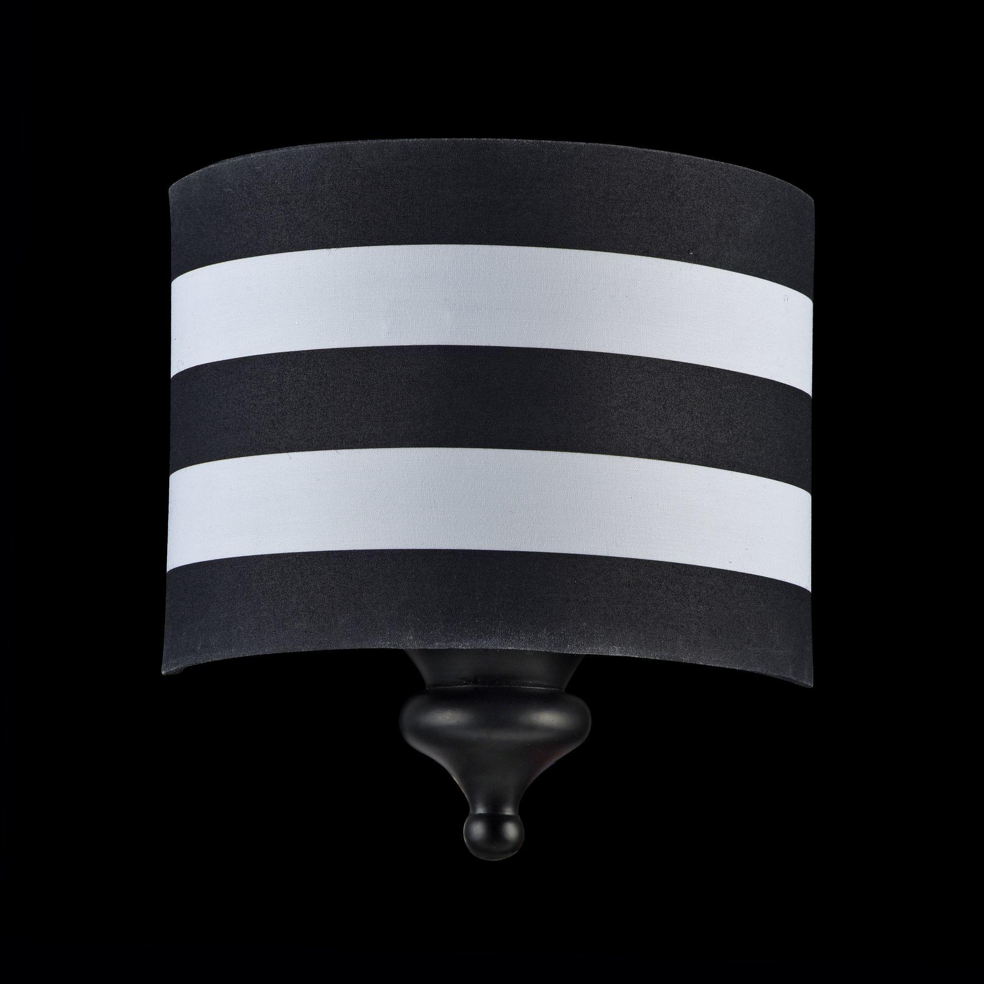 Бра Maytoni Sailor MOD963-WL-01-B, 1xE14x40W, черный, черно-белый, металл, текстиль - фото 3