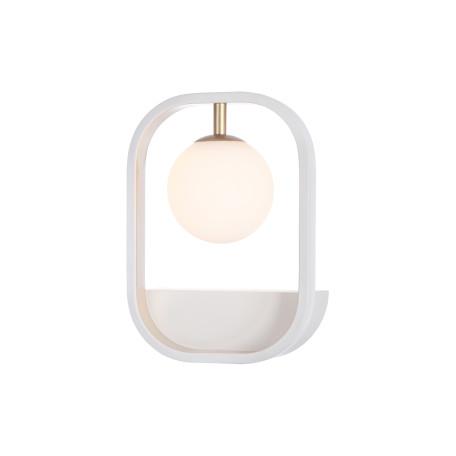 Настенный светильник Maytoni Avola MOD431-WL-01-WG, 1xG9x40W, белый, матовое золото, металл, стекло