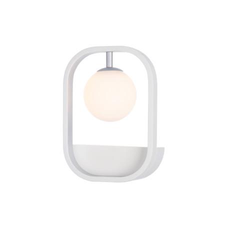 Настенный светильник Maytoni Avola MOD431-WL-01-WS, 1xG9x40W, белый, серебро, металл, стекло