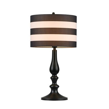 Настольная лампа Maytoni Modern Sailor MOD963-TL-01-B, 1xE14x40W, черный, черно-белый, металл, текстиль