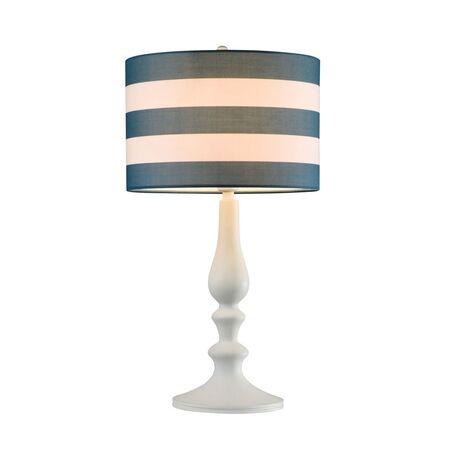 Настольная лампа Maytoni Sailor MOD963-TL-01-W, 1xE14x40W, белый, синий, металл, текстиль