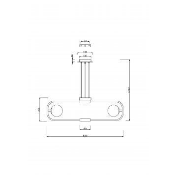 Схема с размерами Maytoni MOD431-PL-06-WS