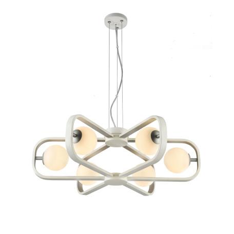 Подвесная люстра Maytoni Avola MOD431-PL-06-WS, 6xG9x40W, белый, серебро, металл, стекло - миниатюра 2