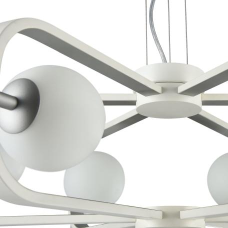Подвесная люстра Maytoni Avola MOD431-PL-06-WS, 6xG9x40W, белый, серебро, металл, стекло - миниатюра 5