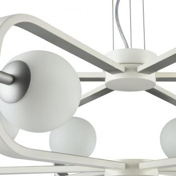 Подвесная люстра Maytoni Avola MOD431-PL-06-WS, 6xG9x40W, белый, серебро, металл, стекло - миниатюра 8