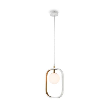 Подвесной светильник Maytoni Avola MOD431-PL-01-WG, 1xG9x40W, белый, матовое золото, металл, стекло