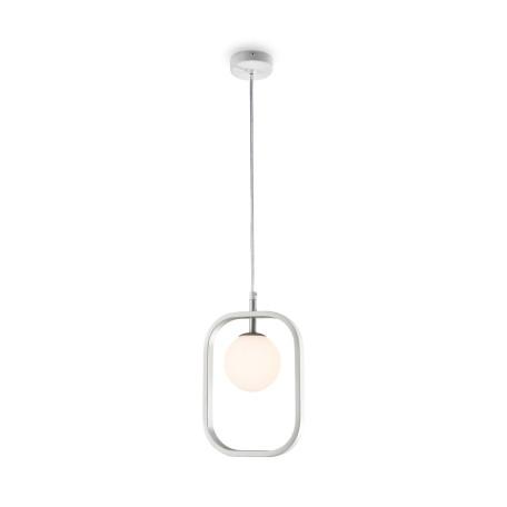 Подвесной светильник Maytoni Avola MOD431-PL-01-WS, 1xG9x40W, белый, серебро, металл, стекло
