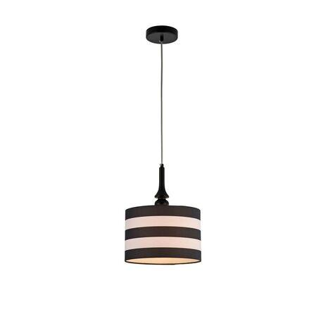 Подвесной светильник Maytoni Sailor MOD963-PL-01-B, 1xE14x40W, черный, белый, металл, текстиль