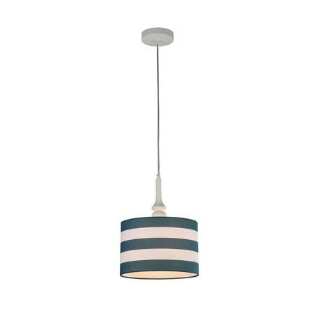 Подвесной светильник Maytoni Sailor MOD963-PL-01-W, 1xE14x40W, белый, синий, металл, текстиль