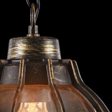 Подвесной светильник Maytoni Champs Elysees S110-35-01-R, IP44, 1xE27x100W, черный с золотой патиной, янтарь, металл, металл со стеклом - миниатюра 7