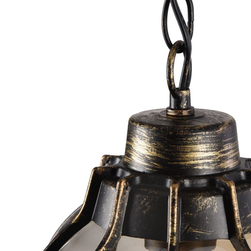 Подвесной светильник Maytoni Champs Elysees S110-35-01-R, IP44, 1xE27x100W, черный с золотой патиной, янтарь, металл, металл со стеклом - фото 9