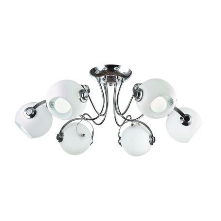 Потолочная люстра с регулировкой направления света Maytoni Joel MOD833-06-N, 6xE14x60W, хром, белый, металл, стекло