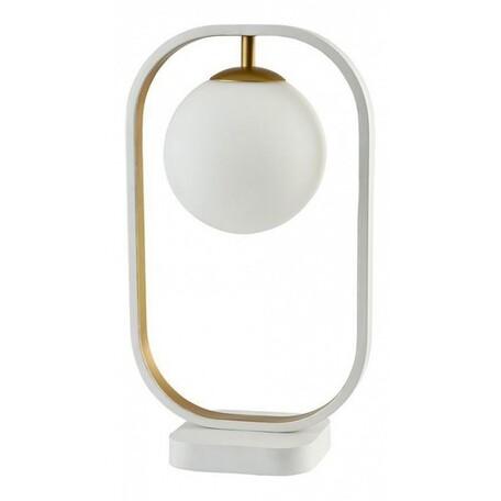 Настольная лампа Maytoni Avola MOD431-TL-01-WG, белый, металл, стекло