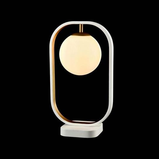 Настольная лампа Maytoni Avola MOD431-TL-01-WG, белый, металл, стекло - фото 4