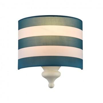 Бра Maytoni Sailor MOD963-WL-01-W, 1xE14x40W, белый, синий, металл, текстиль