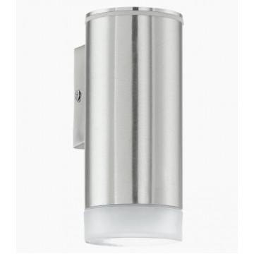 Настенный светильник Eglo Riga-LED 92735, IP44, 1xGU10x3W, сталь, белый, металл, пластик