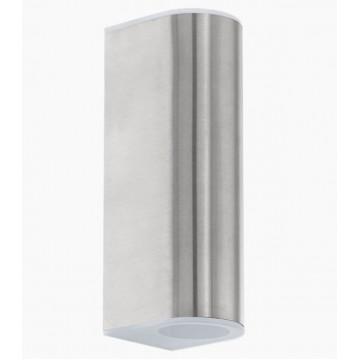 Настенный светодиодный светильник Eglo Cabos 93271, IP44, LED 5W, 3000K (теплый), белый, сталь, металл, стекло