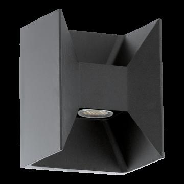 Настенный светодиодный светильник Eglo Morino 93319, IP44, LED 5W 3000K 720lm, серый, металл