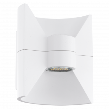 Настенный светодиодный светильник Eglo Redondo 93367, IP44, LED 5W 3000K 720lm, белый, металл