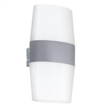 Настенный светодиодный светильник Eglo Ravarino 94119, IP44, LED 10W, 3000K (теплый), серебро, белый, металл, пластик