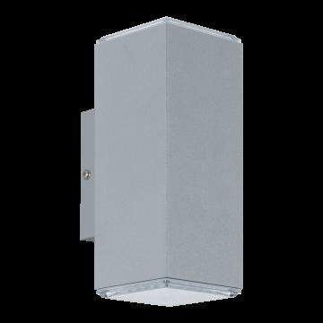 Настенный светодиодный светильник Eglo Tabo 94186, IP44, LED 7,4W 3000K 1280lm, серебро, металл