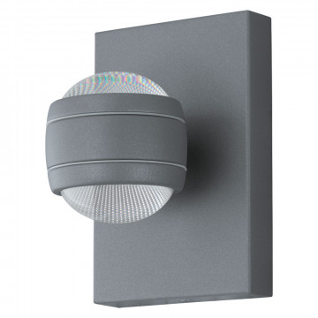 Настенный светодиодный светильник Eglo Sesimba 94796, IP44, LED 7,4W 3000K 1120lm, серебро, металл, металл с пластиком