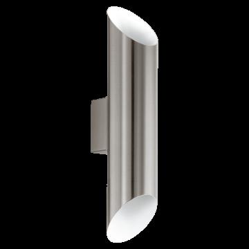 Настенный светодиодный светильник Eglo Agolada 94803, IP44, LED 7,4W 3000K 1280lm, сталь, металл