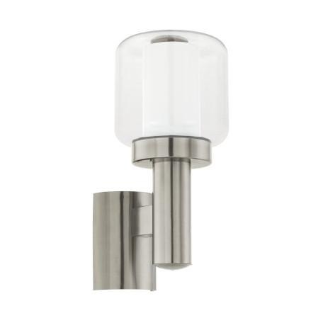 Настенный светильник Eglo Poliento 95016, IP44, 1xE27x40W, сталь, белый, прозрачный, металл, пластик