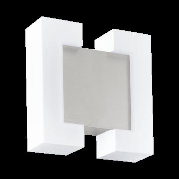 Настенный светодиодный светильник Eglo Sitia 95987, IP44, LED 9,6W 3000K 1100lm, никель, белый, металл, пластик
