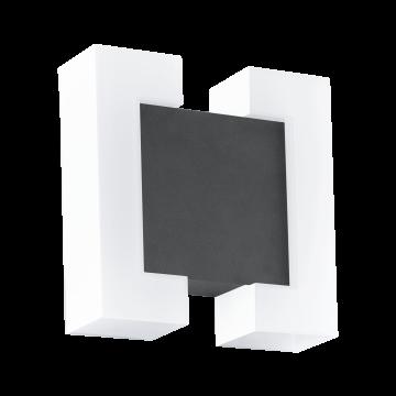 Настенный светодиодный светильник Eglo Sitia 95988, IP44, LED 9,6W 3000K 1100lm, серый, белый, металл, пластик