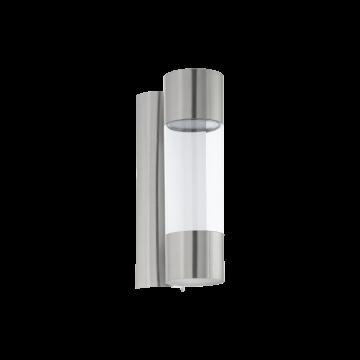 Настенный светодиодный светильник Eglo RobLEDo 96013, IP44, LED 7,4W 3000K 640lm, сталь, прозрачный, металл, металл со стеклом/пластиком