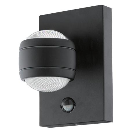 Настенный светодиодный светильник Eglo Sesimba 1 96021, IP44, LED 7,4W 3000K 560lm, черный, металл, металл с пластиком