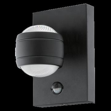 Настенный светодиодный светильник Eglo Sesimba 1 96021, IP44, LED 7,4W 3000K 560lm, черный, металл, металл со стеклом/пластиком