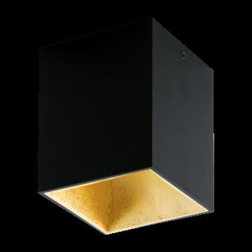 Потолочный светодиодный светильник Eglo Polasso 94497, LED 3,3W 3000K 340lm, черный, металл