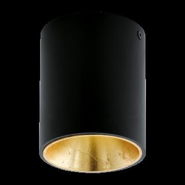 Потолочный светодиодный светильник Eglo Polasso 94502, LED 3,3W 3000K 340lm, черный, металл