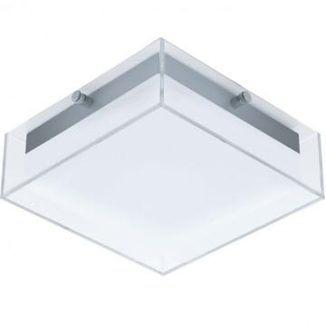 Потолочный светодиодный светильник Eglo Infesto 94874, IP44, LED 8,2W 3000K 820lm, серый, белый, пластик