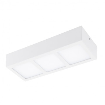 Потолочный светодиодный светильник Eglo Colegio 95202, LED 12,6W 3000K 1650lm, белый, металл с пластиком, пластик