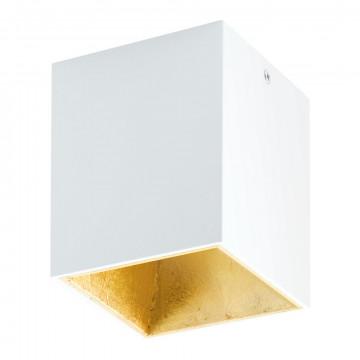 Потолочный светодиодный светильник Eglo Polasso 94498, LED 3,3W 3000K 340lm, белый, матовое золото, металл