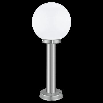 Садово-парковый светильник Eglo Nisia 30206, IP44, 1xE27x60W, сталь, белый, металл, стекло