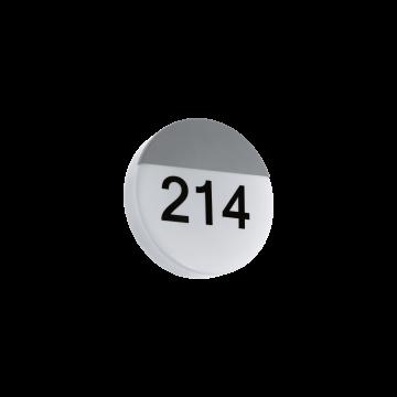 Светодиодный светильник-указатель Eglo Oropos 96237, IP44, белый, серебро, металл, пластик