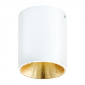 Потолочный светодиодный светильник Eglo Polasso 94503, LED 3,3W 3000K 340lm, белый, матовое золото, металл