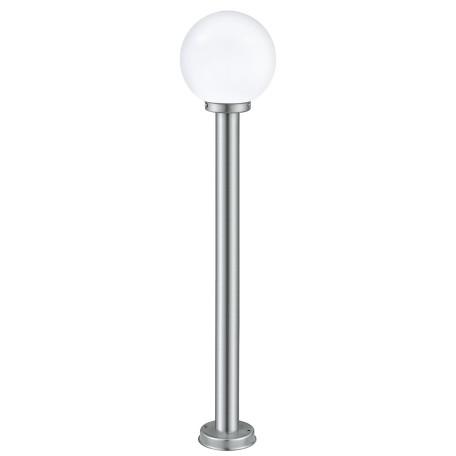 Уличный фонарь Eglo Nisia 30207, IP44, 1xE27x60W, сталь, белый, металл, стекло