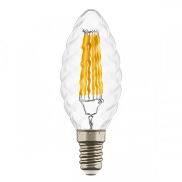 Филаментная светодиодная лампа Lightstar LED 933702 свеча E14 6W, 3000K (теплый) 220V, гарантия 1 год