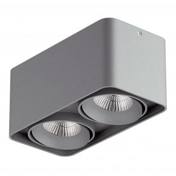 Потолочный светодиодный светильник Lightstar Monocco 052329, IP65, 3000K (теплый), серый, металл