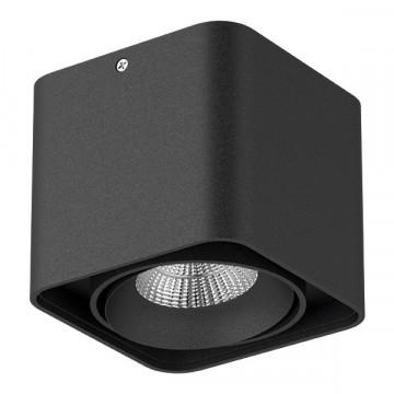 Потолочный светодиодный светильник Lightstar Monocco 052317, IP65, LED 10W 3000K 600lm, черный, металл