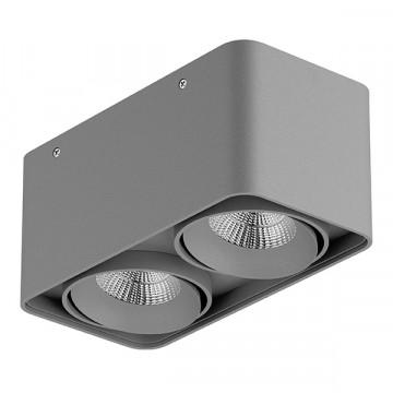 Потолочный светодиодный светильник Lightstar Monocco 052329, IP65, LED 20W 3000K 1200lm, серый, металл