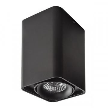 Потолочный светодиодный светильник Lightstar Monocco 052337, IP65, LED 10W 3000K 600lm, черный, металл