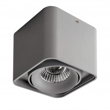 Потолочный светодиодный светильник Lightstar Monocco 052319, IP65, LED 10W 3000K 600lm, серый, металл