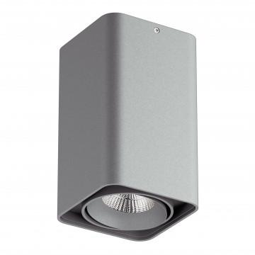 Потолочный светодиодный светильник Lightstar Monocco 052339, IP65, LED 10W 3000K 600lm, серый, металл
