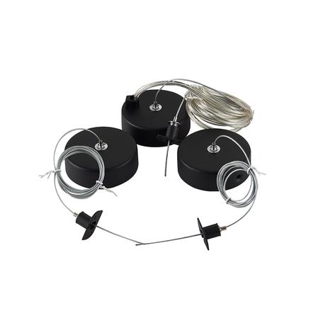 Набор для подвесного монтажа магнитной системы Donolux Magic Track Suspension kit DLM900RBlack